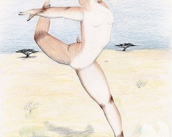 Leap of Joy - Original  Colored Pencil