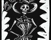 victorian skeleton in cor...