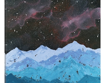iCanvas Space Mountains Gallery Wrapped Canvas Art Print by Emily Magone