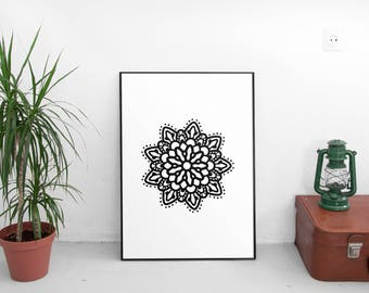 Printable Art, Mandala Wall Art, Abstract Art, Geometric Art, Modern Decor, Home Decor, Bohemian Design, Boho, Mandala Art