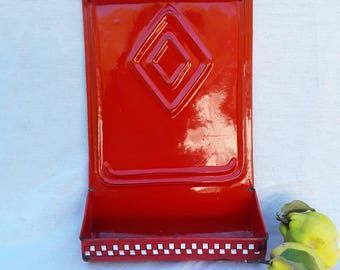 French, Vintage, French Vintage, Enamelware Old, Graniteware Old, Lustacru, French Kitchen, French Country, Red Enamelware, Country Antiques