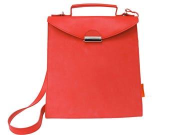 Shoulder bag, leather shoulderbag, red, Red leatherbag, Designtas, bag, handbag, red bag, luxury bag, exclusive, design, leather
