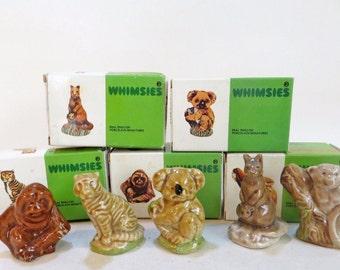 WADE WHIMSIES Boxed Set Kangaroo/Orangutang/Koala/Tiger/Langur. Perfect condition