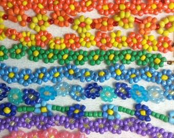 Colorful Daisy Bracelets