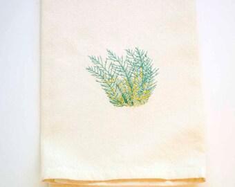 Sagebrush Tea Towel | Embroidered Kitchen Towel | Kitchen Towel | Personalized Kitchen Gifts | Nevada Gift | Embroidered Towel | Hand Towel