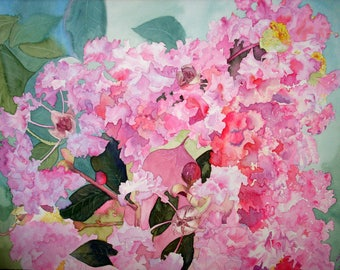Crepe Myrtle flowers- Wall art