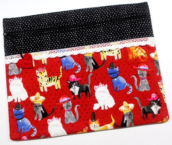 Cats in Hats Cross Stitch Project Bag