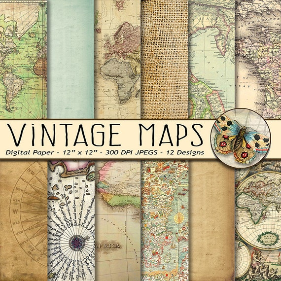 Vintage maps digital paper old world maps old vintage nautical vintage maps digital paper old world maps old vintage nautical paper old parchment paper old compass on parchment from theartboxdesigns on etsy studio gumiabroncs Images
