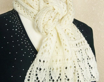 Knit Scarf Pattern: Gull Wings Scarf, PDF download