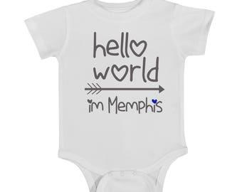 Customizable onesie, custom onesie, baby onesie, newborn onesie, customize heart color, customize name