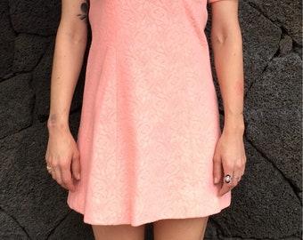 1960's Cowl Neck Mini Dress
