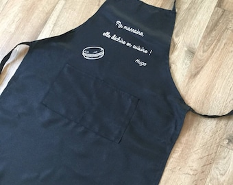 Adult apron personalized kitchen name or other...