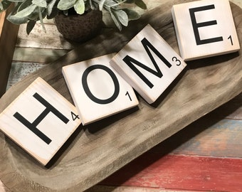 HOME Scrabble Rustic Wood Tiles