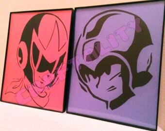 Megaman & Protoman Papercut Set