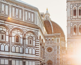 """Italy Print, Florence Italy Wall Art, Florence Photography, """"Il Duomo"""" at Sunrise, Living Room Wall Decor, Home Decor, Architecture Print"""