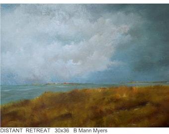 """Original Landscape on canvas 30x36 """"Distant Retreat"""""""
