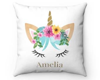 Personalised Unicorn Cushion, Unicorn Cushion, Personalised Cushion, Unicorn Pillow, Unicorn Gift, Personalised Gift, Pillow, Unicorn