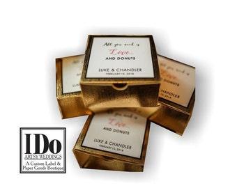 Favor Stickers - Donut Box Sticker - Sticker for Wedding Boxes - Custom Donut Sticker -  Wedding Favor Stickers
