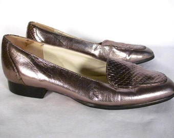 Nordstrom Silver Metallic Loafer Women size 7.5