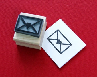 Love Letter Rubber Stamp - Wedding Stamper - Wedding Gift - DIY Wedding Invites - Handmade Wedding - Post - Valentines Card