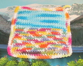 UHP 008 Upcycle hand crochet double thick hot pad