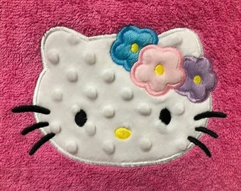 Hello kitty personalized bath towel / monogrammed beach towel