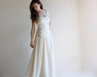 Wedding dress, two piece wedding dress, bridal separates, bridal outfit, modest wedding dress, simple wedding dress, wedding separates, gown