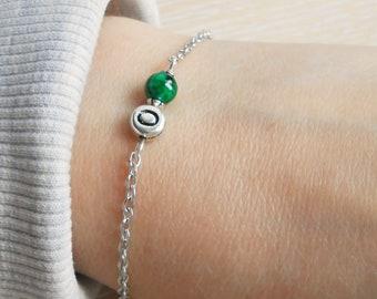 Jade bracelet Initial bracelet name chain bracelet Friendship bracelet Best gift bracelets
