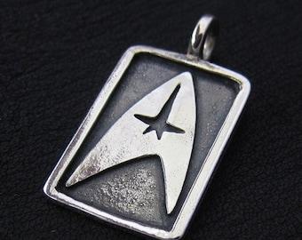 Silver Star Trek pendant