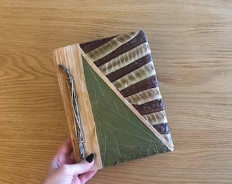 Travel Journal, Diary, Leaf Journal, Natural Journal, Unique Gift