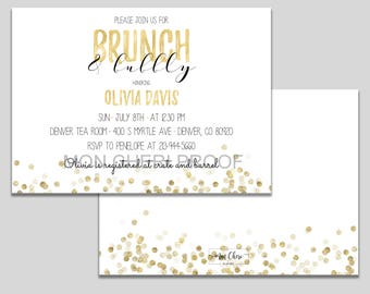 Invitations etsy brunch bubbly gold glitter bridal shower brunch invitation bridal shower invite bridal brunch invite printable modern bridal stopboris Images
