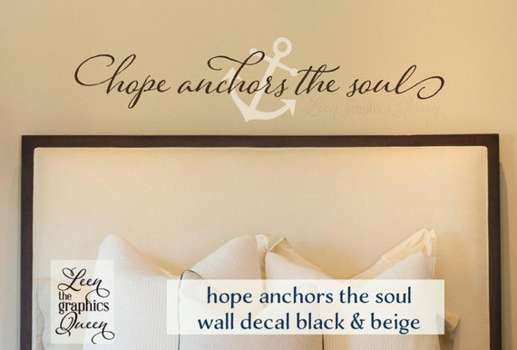 Wall Decal Hope Anchors the Soul Hebrews 6:19 Bible