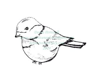 INSTANT Download Digital Stamp Image CHICKADEE, Digital Image