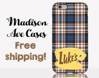 Phone Case Luke's Diner Plaid Fall Gilmore Girls TV Stars Hollow Lorelai Rory Quote Samsung Galaxy Edge S5 S6 S7 iPhone 4 5 6 6s Tough Slim