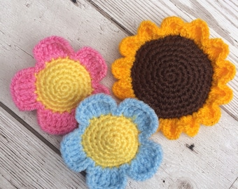 Crochet Flowers - Catnip Toys - Cat Toy - Pet Toys - Unique Cat Toy - Flower Cat Toy - Cute Cat Toys - Crochet Cat Toys - Summer Cat Toys