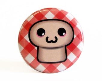 Cute 38mm 1.5 Inch Mushroom Badge