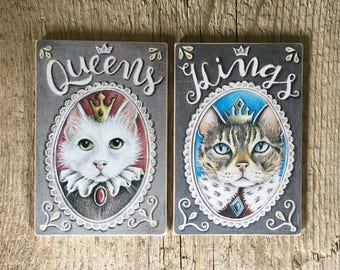 Cat Door Sign - Cat Home Decor - Toilet Gender Signs - Print on Wood - Funny Cats Bathroom Sign - Bar Signs - Rustic Cat Gift - Housewarming
