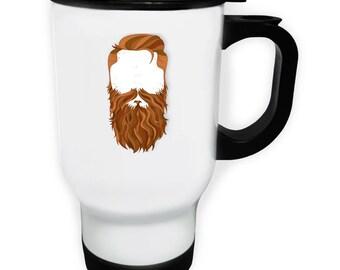 Secret Men with the Ginger Beard and Mustache Stainless S Travel 14oz Mug m2t