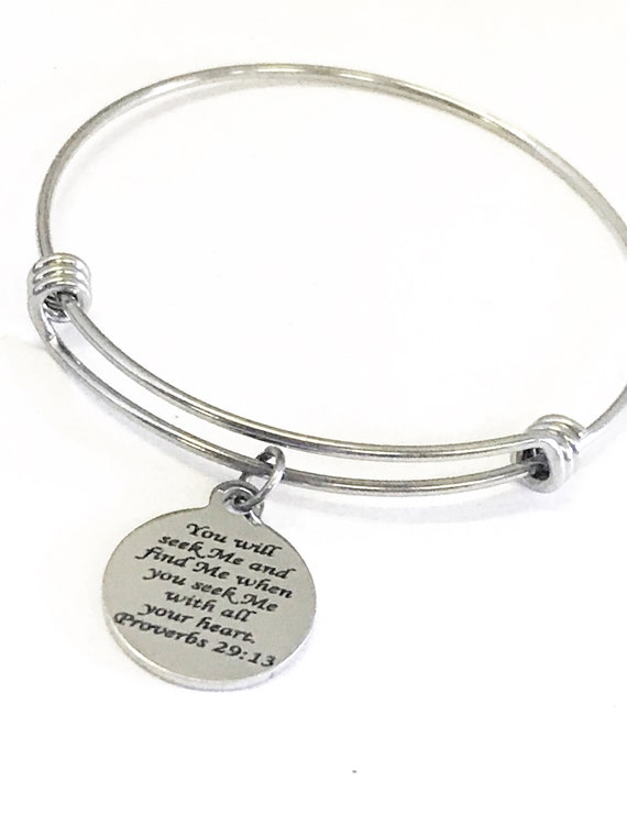 Christian Jewelry, Seek And Find God Bracelet, Christian Bracelet, Proverbs 29 13 Jewelry, Christian Gifts, Seek God With All Your Heart