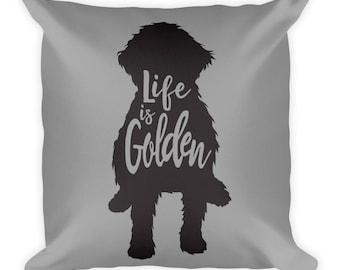 Goldendoodle Pillow - Grey