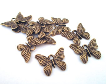 brass butterfly moth charms, pick your amount, G112