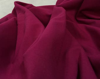 2yards -Fuchsia Stretch Knit, Stretchy Knit Fabric, Fuchsia Fabric, Stretchy Material, Pink Fabric, Pink Purple Material, Remnant Fabric
