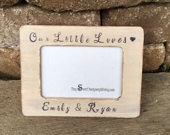 Our Little Love photo frame, baby shower gift, children frame, frame for mothers, frame for parents, baby picture frame, new parents gifts