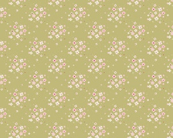 Tilda Apple Bloom Jean Olive (Half metre)
