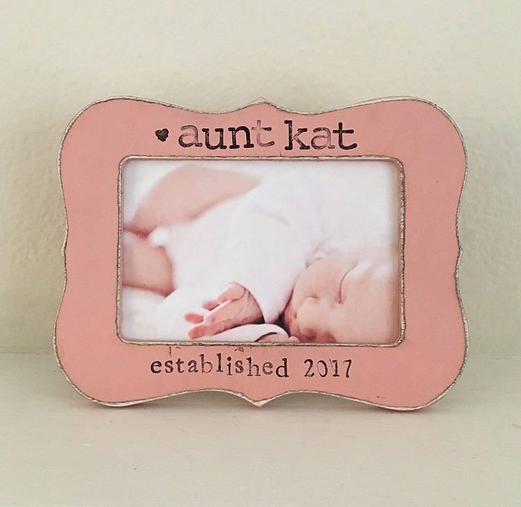 REGALO de tía tía marco de neice de sobrino recién nacido ...