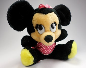 Vintage Minnie Mouse Plush Toy, Disneyland, Disney World, The Walt Disney Co, 1970's