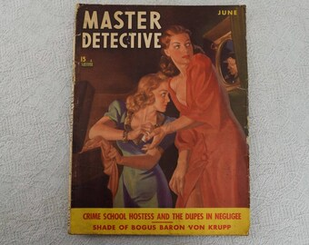 Master Detective Magazine June 1940 Vol. 22 No. 4 1940s