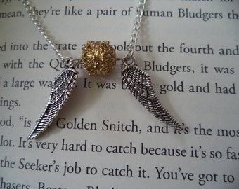 Golden Snitch Inspired Necklace Harry Potter