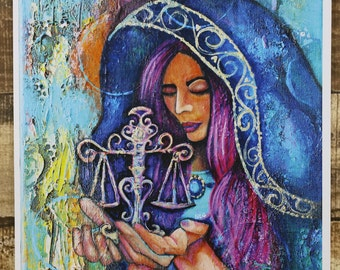 Items similar to justice libra art fantasy art women art justice art print scales of justice wall art maiden of justice wall decor voltagebd Images