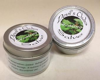 Alaska Devil's Club Salve - Healing Salve, Alaska Herbal Ointment, Anti-inflammatory, Soothing Arthritis Pain Relief, Psoriasis